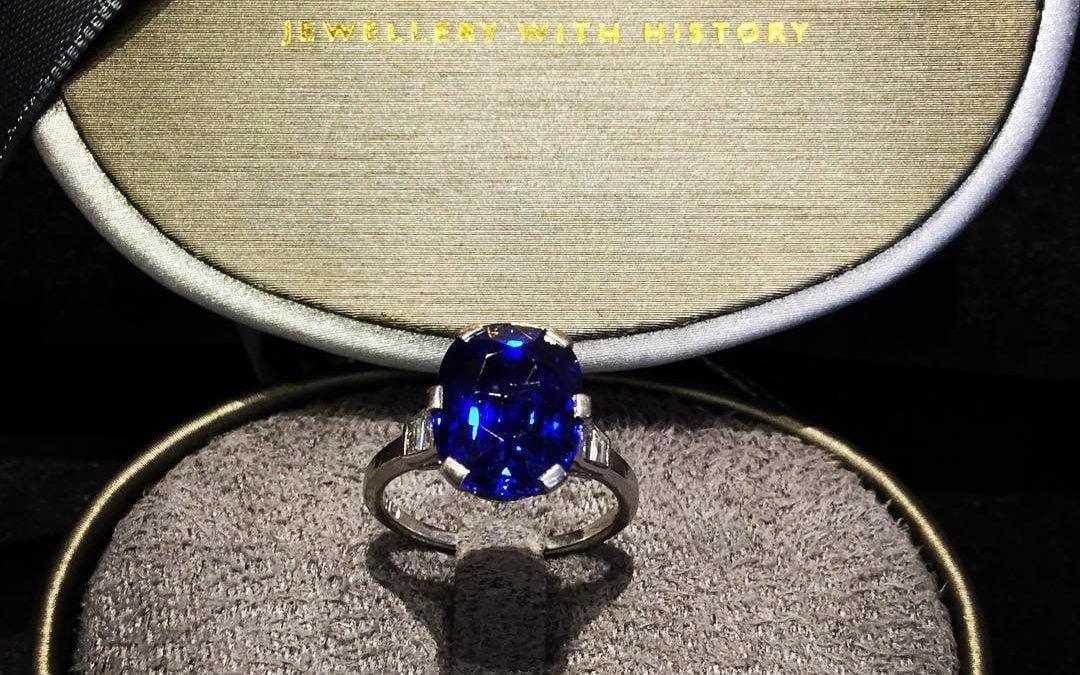 Blå Safir Ring