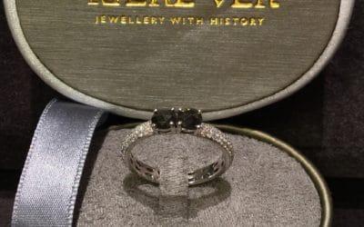 Sort Hvid Diamant Ring