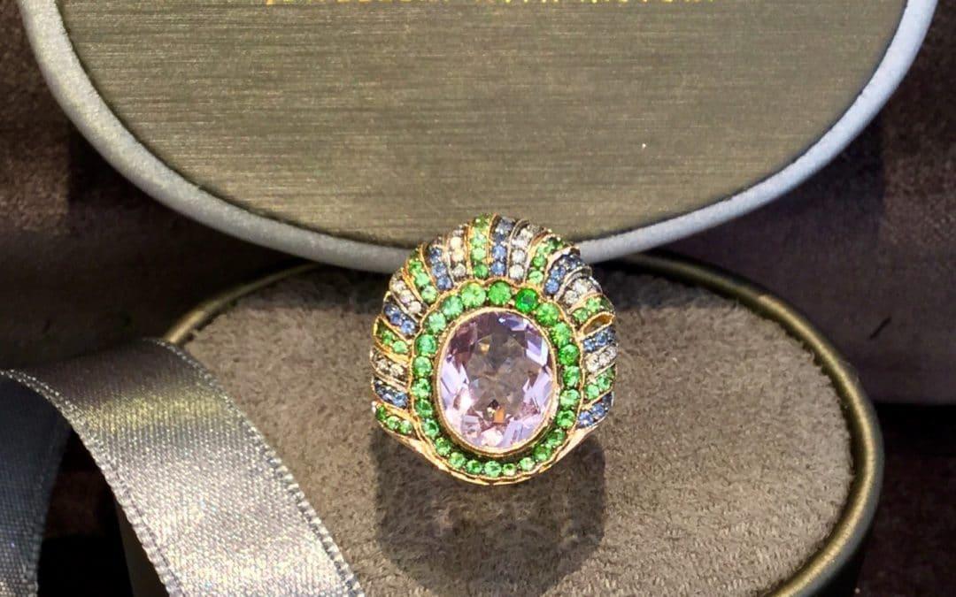 Ametyst Safir Brillant Ring